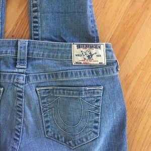 True Religion basic skinny light blue jean